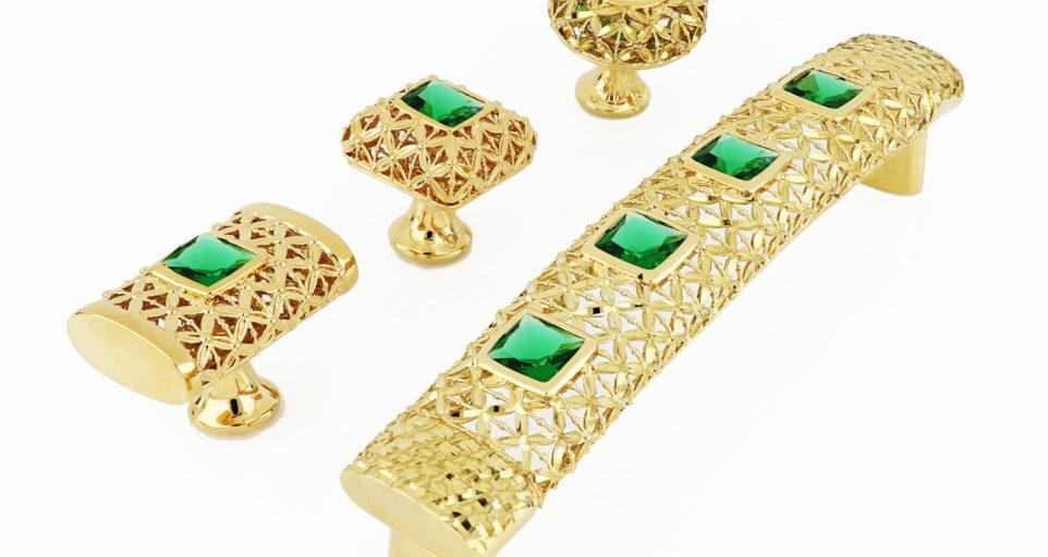 Коллекция ручек с драгоценными камнями Aнглийский