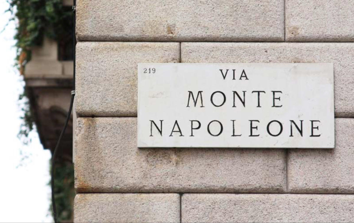 Fashion store in the most fashionable street in Milan Via Monte  Napoleone