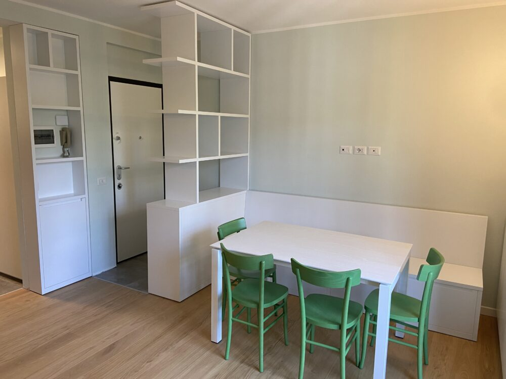 Madesimo Town , entrance furnished with custom made furniture