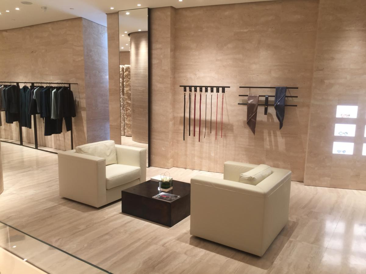 Fashion store in the center of fashion in Beijing China inside the Westing Hotel