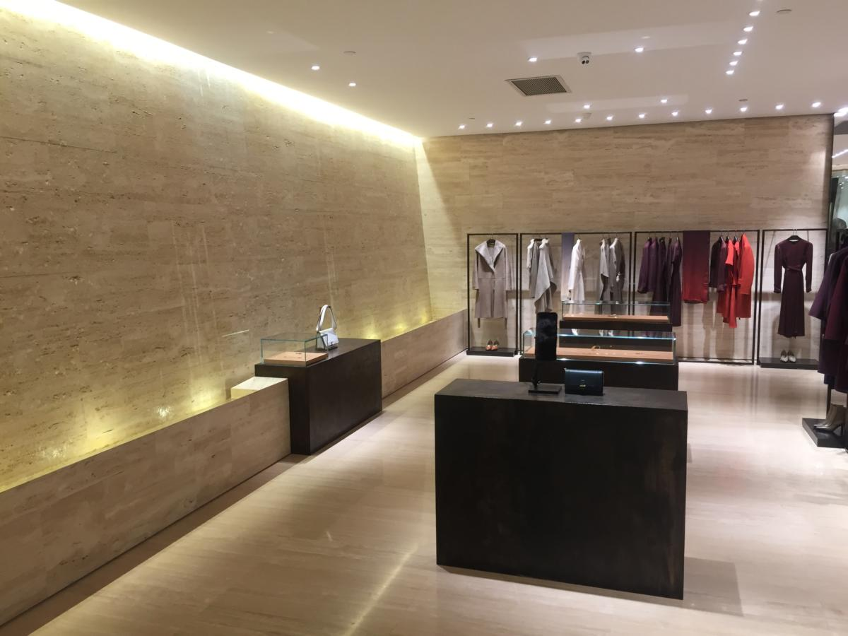 Fashion store in the center of fashion in Beijing China inside the shopping center WF Central
